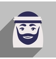 flat icon with long shadow Arab men vector image