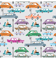 Cars in the city vector