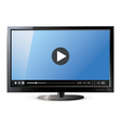 Frontal view of widescreen lcd monitor Video vector image