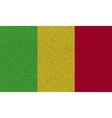 Flags Mali on denim texture vector image