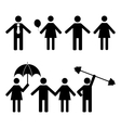 A set of stick figures vector image