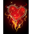 burning heart vector image