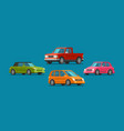 cars set of icons vehicle automobile garage vector image