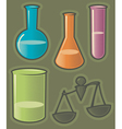 Green icons for pharmaceutics vector image