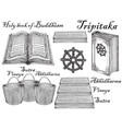 ink hand drawn sketch style buddhist vector image