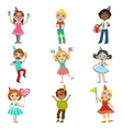 Kids Celebration Set vector image