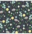 Meadow flowers seamless pattern vector image