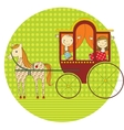 ride in a carriage vector image