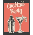 Cocktail Party Invitation Poster vector image