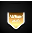 Premium quality tag vector image
