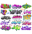 Graffiti urban art set vector image vector image