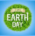 earth day green postcard vector image