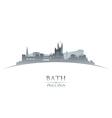 Bath England city skyline silhouette vector image