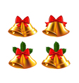 Christmas bells set vector image vector image