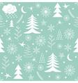 Seamless Christmas pattern green vector image vector image