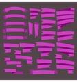 Pink curving Ribbons set vector image