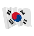 political waving flag of south korea vector image vector image