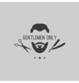 Barber logo elements vector image