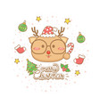 christmas celebration card vector image