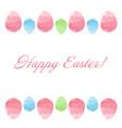 Hand drawn design Easter eggs border frame vector image
