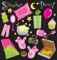 Slumber party vector image