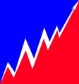 Up Arrow stylized French flag vector image