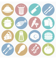 white icons food vector image