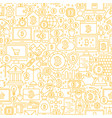 line bitcoin white seamless pattern vector image