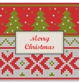 Xmas ornaments - seamless knitted background vector image vector image