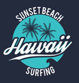 80s style surf sport typography t shirt graphic vector image