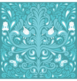 Beautiful floral pattern with owl vector image vector image