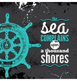 Travel grunge background Sea nautical design vector image vector image