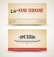 old-style retro vintage business card template vector image vector image
