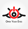 Open Your Eyes vector image