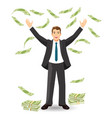 financial income for office worker payments for vector image