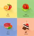 Food concept set vector image
