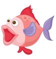 a pink fish vector image