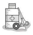 first aid kit to healthcare people vector image