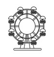 ferris wheel fair or carnival icon image vector image