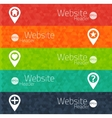 Set of abstract triangle banners for websites user vector image