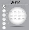 2014 year calendar vector image