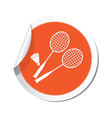 badminton ORANGE LABEL vector image