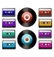 Tap cassette vector image