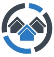 Realty diagram icon from Business Bicolor Set vector image
