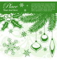 grunge christmas frame vector image vector image