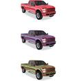 Pick-up trucks vector image vector image
