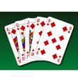 Poker hand - Straight flush vector image