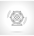 Atom pendulum flat line icon vector image