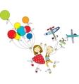 children play vector image