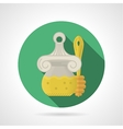 Flat color icon for honey jar vector image